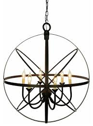6 light orb chandelier oil rubbed bronze
