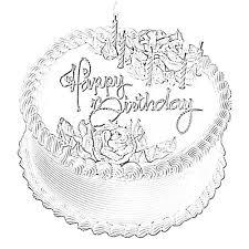 Happy Birthday Cake Sketch Image Sketch