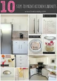 easy steps to paint kitchen cabinet vintage how to prepare kitchen cabinets for