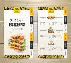 Free Food Menu Template Impressive Menu Formats Bire48andwap