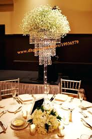 chandelier table centerpieces tall crystal