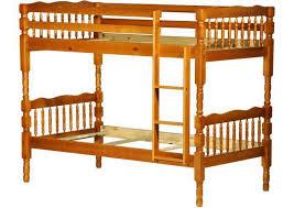 arlington twin twin bunk bed honey pine palace imports