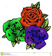 розовый цветок эскиз татуировки 3 розы цветков в необыкновенных