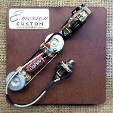emerson custom 3 way telecaster prewired kit wiring harness pots image is loading emerson custom 3 way telecaster prewired kit wiring