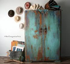 the turquoise iris vintage modern hand painted furniture paint by cece caldwell bohemian furniture