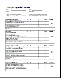 sample employee evaluations employee appraisal report template word excel templates