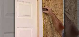 how to install a flat jamb interior door construction repair wonderhowto