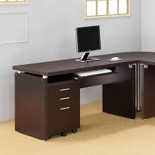 Computer Desk with Keyboard Tray in Cappuccino - Free Shipping Today -  Overstock.com - 13934477