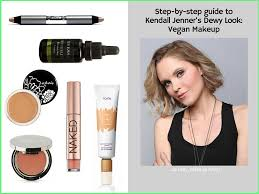 get kendall jenners dewy look radiant natural makeup non touring trend