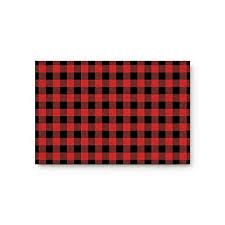 vandarllin rustic red black buffalo check plaid pattern doormat welcome mats rugs carpet outdoor indoor for home office bedroom
