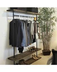 IRD Triple Shelf Clothing Rack Industrial Furniture Pipe Garment Rack  Clothes Rack Retail Display