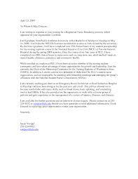 Sample Nursing Cover Letter For Resume Best of Nursing Cover Letters Graduate Nurse Resume And Letter Nursing R