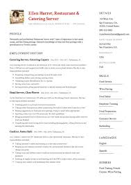 Catering Job Description For Resume Catering Server Resume Magdalene Project Org