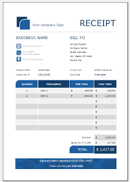 Receipts Template Itemized Receipt Template Free Receipt Templates