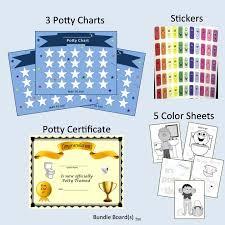 Potty Training Chart Training Certificate Blue Stars 3