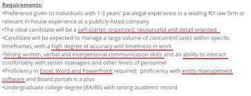 Paralegal Resume Skills