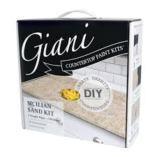 Can I Paint Countertops Giani Granite Sicilian Sand Countertop Paint Kit Fg Gi Sicilain