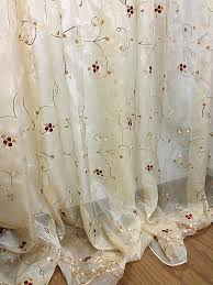 embroidered sheer curtains interior design sheer embroidered curtains