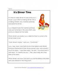 Kids. free first grade comprehension worksheets: First Grade ...