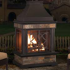 outdoor stone fireplace kits canada