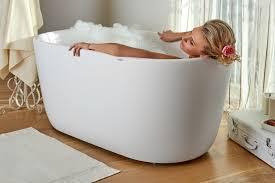 small fresstanding bathtub