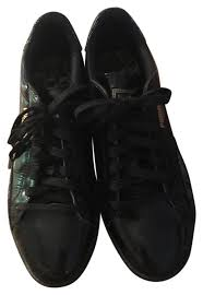 puma black leather sneakers