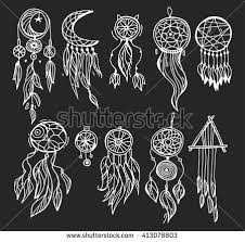 What Native American Tribes Use Dream Catchers Dream Catcher Dreamcatcher Aztec Feather Tribal Stock Vector 97