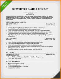 9 babysitter resume skills nypd resume babysitting sample resume