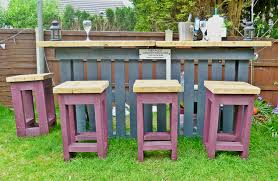 garden furniture made with pallets. DIY Pallets Garden Bar Furniture Made With