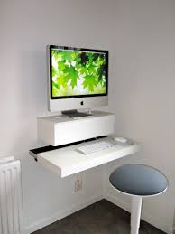 ... Wall Mounted Computer Desk Ikea Minimalist White Imac Floating Wall  Mounted Computer Desk Ikea wall mounted ...