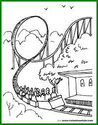incredible roller coaster coloring sheet page happy national pict for becky trend and inspiration becky g