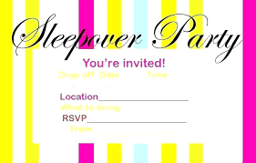 Free Printable Slumber Party Invitation Templates Sleepover