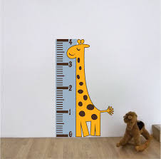 Wall Measuring Chart Giraffe Measuring Chart Wall Mural Decal