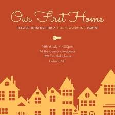 Housewarming Card Templates Customize Housewarming Invitation Templates Online For Party