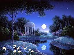 nature cool reflections love dreams attractions four moons creative scenery summer paintings bright flowers blue seasons