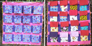 Interactive Play Quilt for Babies & Closed view and opened view Adamdwight.com