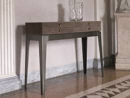 leather console table with drawers lady console table by longhi