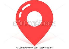 Red Simple Map Pin With Shadow