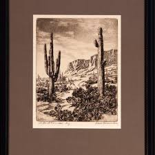 Ivan Summers, American (1889-1974), Superstition, etching, 9 | Barnebys