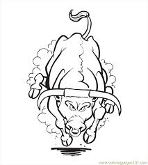 Small Picture Bull Coloring Pages Printable Coloring Coloring Pages