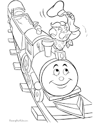 Small Picture Cute train coloring book page 002