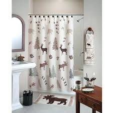 lodge shower curtain cabin style curtains deer bear trees rustic lodge cabin style shower curtain in lodge shower curtain