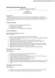 Download Public Administration Sample Resume in School Administrator Resume  Sample