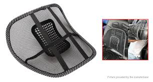 chair massager pad. car seat chair massage back lumbar support mesh ventilate cushion pad massager