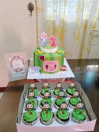 The birthday cake at this disney tsum tsum 1st birthday party is gorgeous! Cocomelon Theme Birthday Cake K And K Sweet Corner By Ruby Fulvadora Facebook