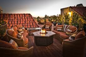 gas fire pit deck traditional with wood deck victorian fire pits