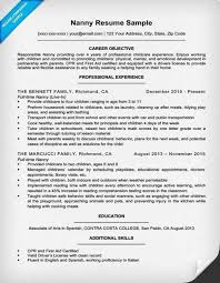Nanny Resume Sample Simple Free Download Sample Nanny Resume Samples Sample Nanny Resume Great