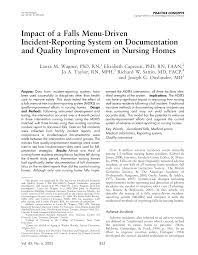 Pdf Impact Of A Falls Menu Driven Incident Reporting System On