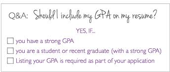 gpa in resumes q a should i put my gpa on my resume the prepary