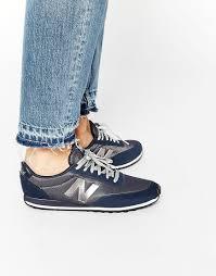 new balance 410 womens. new balance 410 \u0026 metallic - navy / silver | women shoes womens n